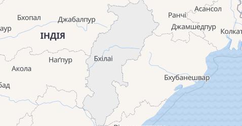 Чхаттісґарх - мапа