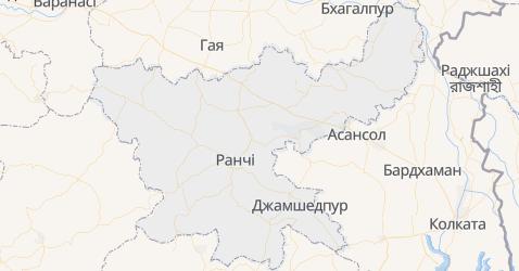 Джхаркханд - мапа