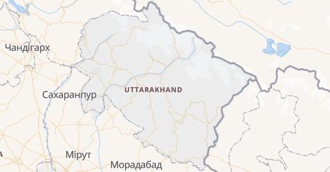 Уттаракханд - мапа