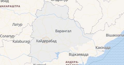Телангана - мапа