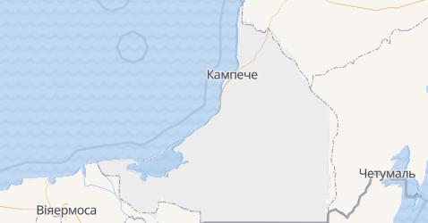 Кампече - мапа