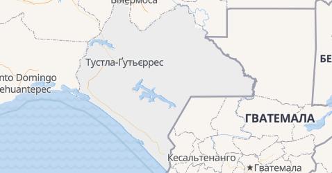 Чіапас - мапа
