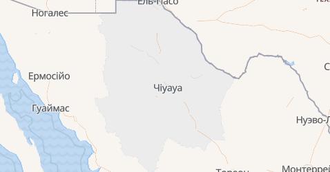 Чіуауа - мапа
