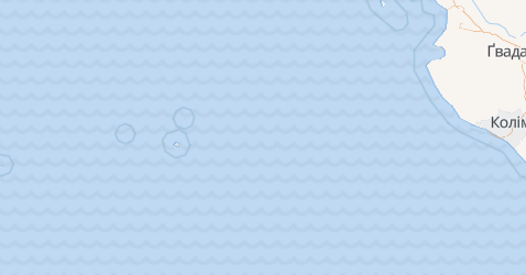 Коліма - мапа