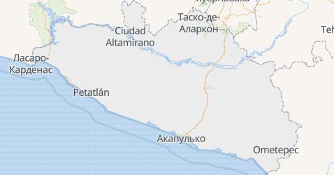 Ґерреро - мапа