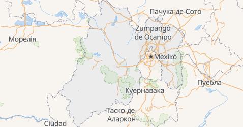 Мехіко - мапа
