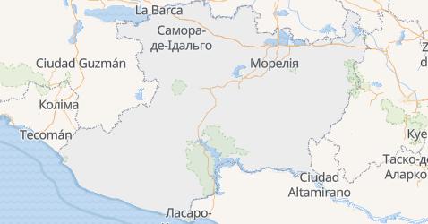 Мічоакан - мапа