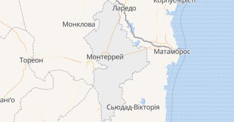 Нуево-Леон - мапа