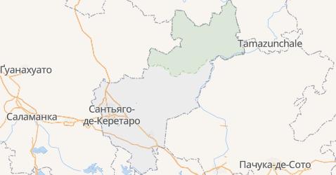 Керетаро - мапа