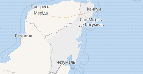 Кінтана-Роо - мапа