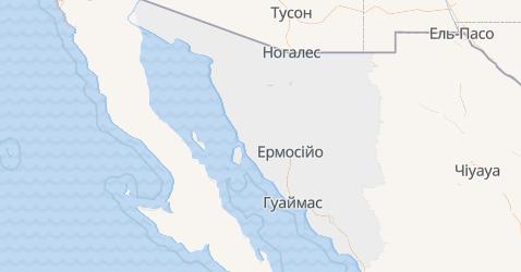 Сонора - мапа