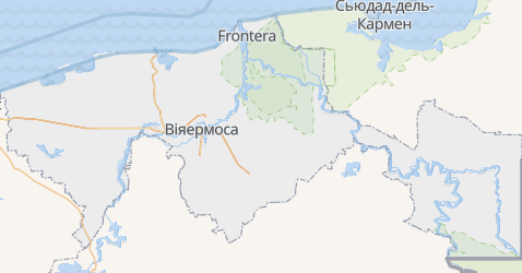 Табаско - мапа