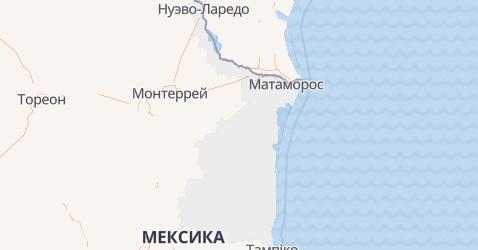 Тамауліпас - мапа
