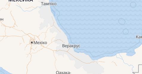 Веракрус - мапа