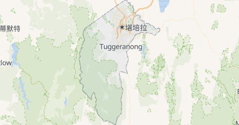 澳大利亚首都领地地图
