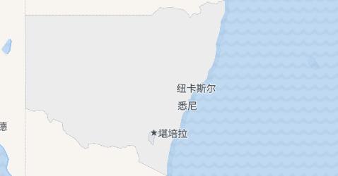 新南威尔士州地图
