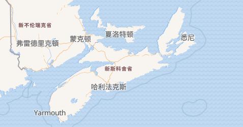 新斯科舍地图