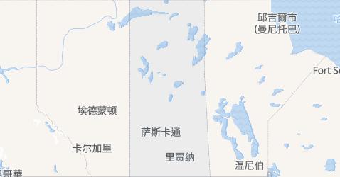 薩斯喀徹溫地图