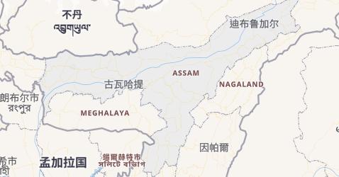 阿萨姆邦地图