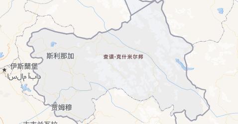 查谟-克什米尔邦地图