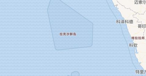 拉克沙群島地图