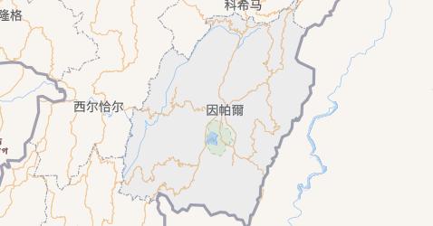 曼尼普尔邦地图