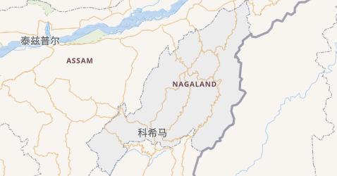 那加兰邦地图