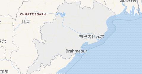奥里萨邦地图