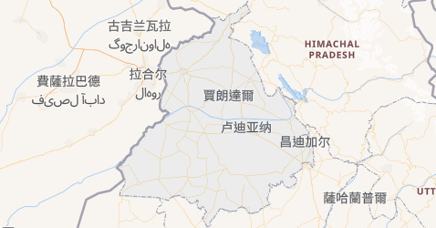 旁遮普邦地图