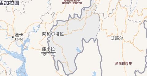 特里普拉邦地图