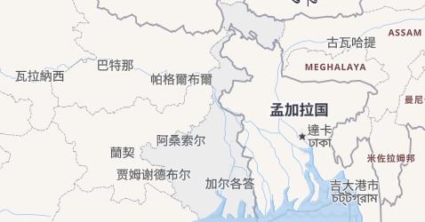 西孟加拉邦地图