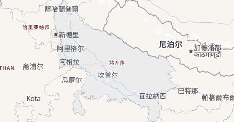 北方邦地图