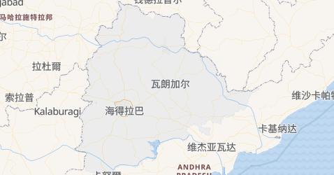 特伦甘纳邦地图