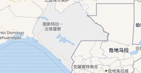 恰帕斯州地图