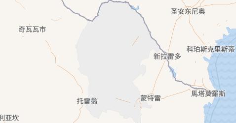 科阿韋拉州地图