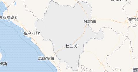 杜蘭戈州地图