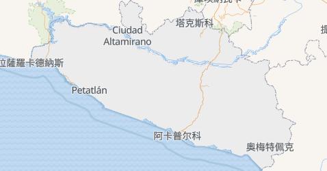 格雷羅州地图