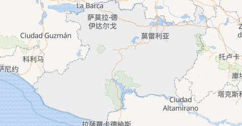 米却肯州地图