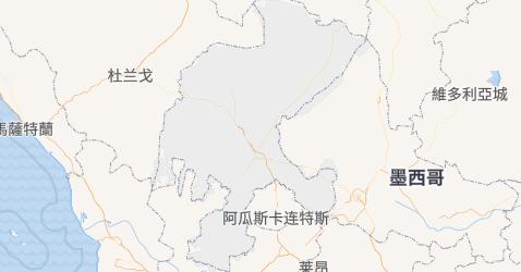 薩卡特卡斯州地图