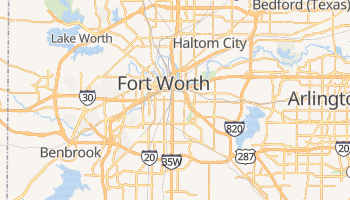 Online-Karte von Fort Worth