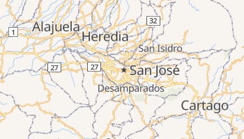 Online-Karte von San José (CR)