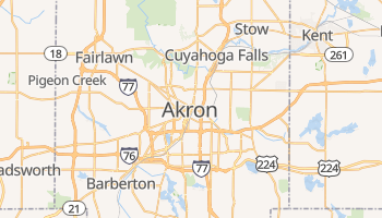 Akron online map