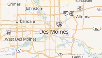 Des Moines online map