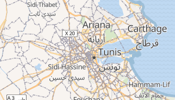 Tunis online map