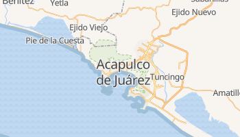 Mapa online de Acapulco