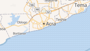 Mapa online de Accra