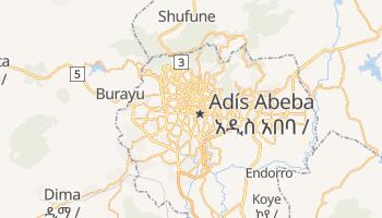 Mapa online de Adís Abeba
