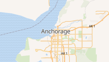 Mapa online de Anchorage
