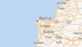 Mapa online de Beirut