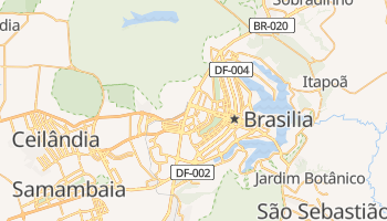 Mapa online de Brasilia